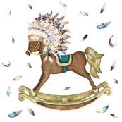 """7"""" Boho Rocking Horse"""