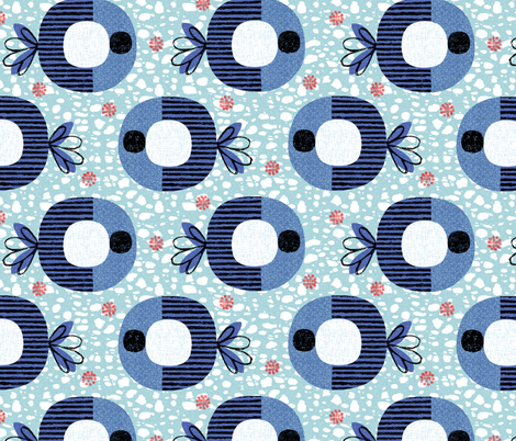Striped fish fabric by ottomanbrim on Spoonflower - custom fabric