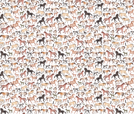 Horses Running fabric by elena_o'neill_illustration_ on Spoonflower - custom fabric