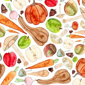 Fruit and Vegetable Kitchen Pattern