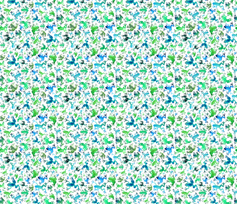 Green and Blue Tree frogs fabric by elena_o'neill_illustration_ on Spoonflower - custom fabric
