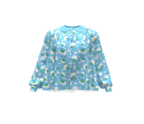 Cotton Flower Blue