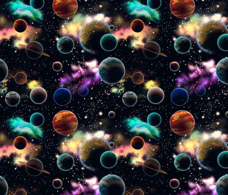 Space and Planets fabric by jadegordon on Spoonflower - custom fabric