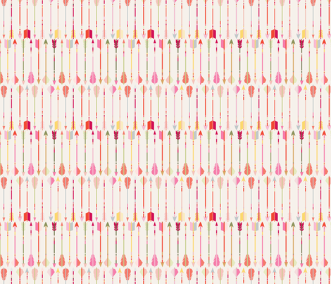 motif_fl_che_fond_ecru_S fabric by nadja_petremand on Spoonflower - custom fabric