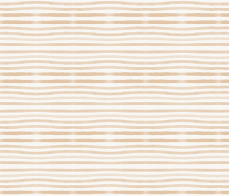 watercolor stripes - peach hand drawn stripes fabric by sunny_afternoon on Spoonflower - custom fabric