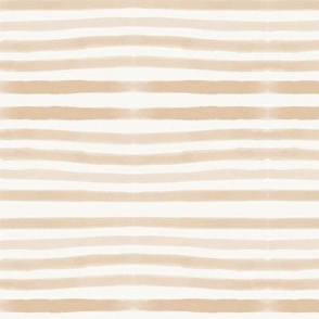 watercolor stripes - peach hand drawn stripes