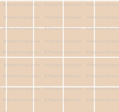 Grid - pastel nude dusty pale orange squares
