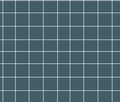 grid - dusty blue squares  fabric by sunny_afternoon on Spoonflower - custom fabric