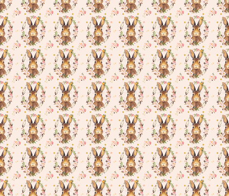 "3"" Some Bunny Loves Me - PINK fabric by shopcabin on Spoonflower - custom fabric"