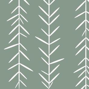 grass thyme herbs - jade smokey green