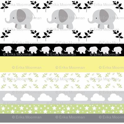 Gray Elephant YaYa quilt gray yellow