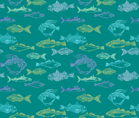 sea fish fabric by woodledoo on Spoonflower - custom fabric