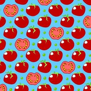 Pea'n'tomato - piselli e pomodoro - 'Pyrex' blue