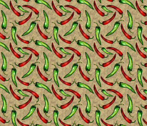 SW - Chili Peppers fabric by malibu_creative on Spoonflower - custom fabric
