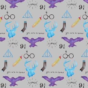 HP Watercolor Icons, Gray