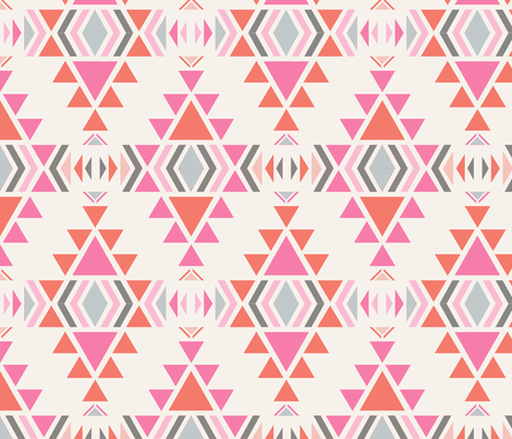 navaro_fond_ecru_M fabric by nadja_petremand on Spoonflower - custom fabric