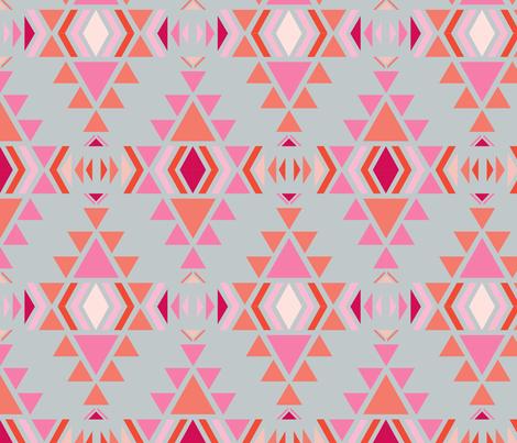 navaro_fond_gris_M fabric by nadja_petremand on Spoonflower - custom fabric