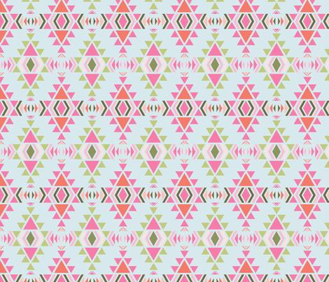 navaro_fond_bleu_S fabric by nadja_petremand on Spoonflower - custom fabric