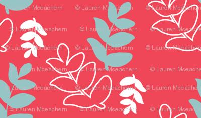 Dancing Leaves - Coral