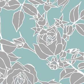 Garden Roses - Blue