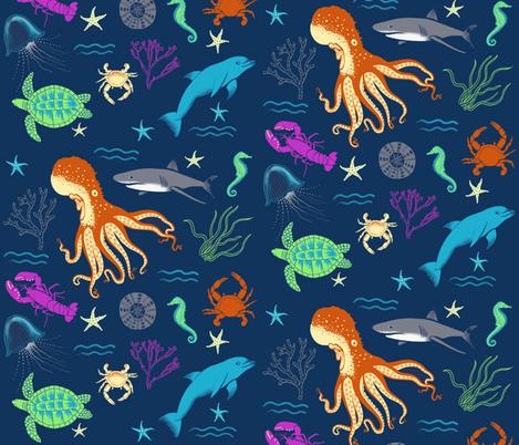 Moonstone_Beach fabric by ruby_ritz on Spoonflower - custom fabric