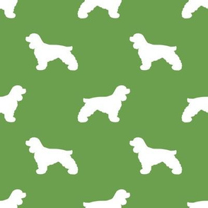 Cocker Spaniel silhouette fabric dog breeds asparagus