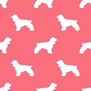 Cocker Spaniel silhouette fabric dog breeds brink pink