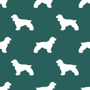 Cocker Spaniel silhouette fabric dog breeds eden