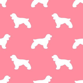 Cocker Spaniel silhouette fabric dog breeds flamingo