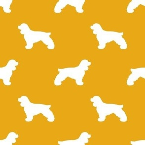Cocker Spaniel silhouette fabric dog breeds goldenrod