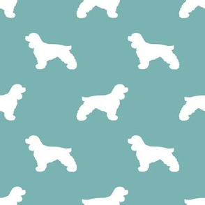 Cocker Spaniel silhouette fabric dog breeds gulf