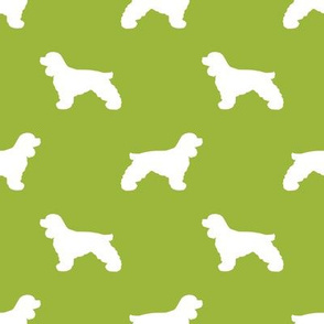 Cocker Spaniel silhouette fabric dog breeds lime