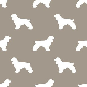 Cocker Spaniel silhouette fabric dog breeds medium brown