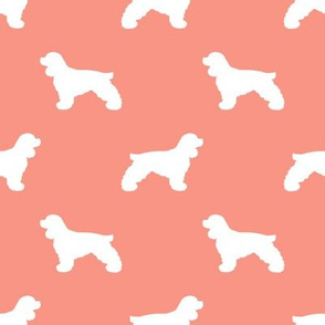 Cocker Spaniel silhouette fabric dog breeds peach
