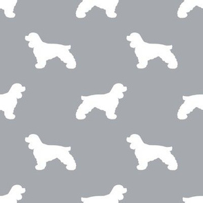 Cocker Spaniel silhouette fabric dog breeds quarry