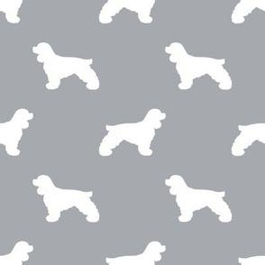 Cocker Spaniel silhouette fabric dog breeds quarry