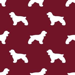 Cocker Spaniel silhouette fabric dog breeds ruby