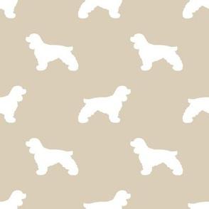 Cocker Spaniel silhouette fabric dog breeds sand
