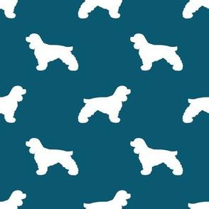 Cocker Spaniel silhouette fabric dog breeds sapphire
