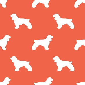 Cocker Spaniel silhouette fabric dog breeds scarlet