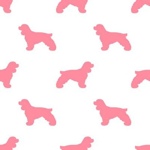 Cocker Spaniel silhouette fabric dog breeds flamingo