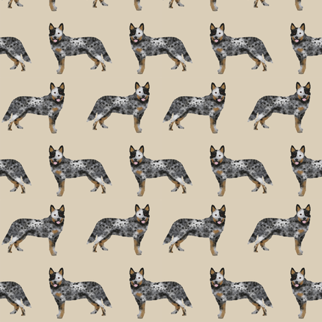 australian cattle dog simple sand fabric by petfriendly on Spoonflower - custom fabric