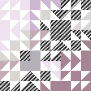 lavender puzzle wholecloth