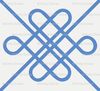 Celtic Knot Modern - Large - Blue