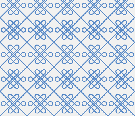 Celtic Knot Modern - Large - Blue fabric by emily_doliner on Spoonflower - custom fabric