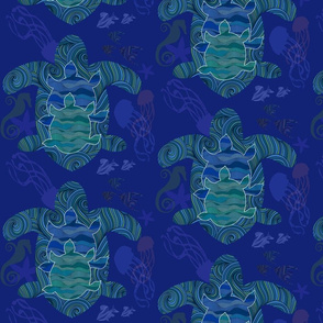 WaterWorld -tranquil aquatic creatures