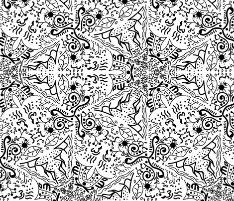 Mandala the seasons fabric by craftwithcartwright on Spoonflower - custom fabric