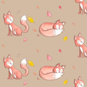 Foxes in Autumn