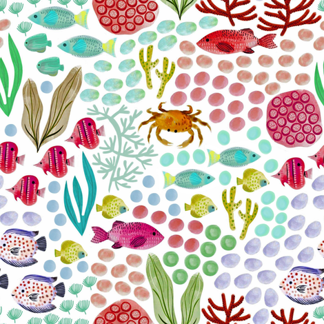 Jewels of the Sea fabric by susan_polston on Spoonflower - custom fabric