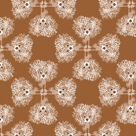 hot mess gilligan / in brown fabric by kclud39 on Spoonflower - custom fabric